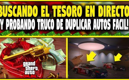 GTA 5 1.42 BUSCANDO EL TESORO OCULTO + PROBANDO TRUCOS DE DUPLICAR  DINERO FACIL!