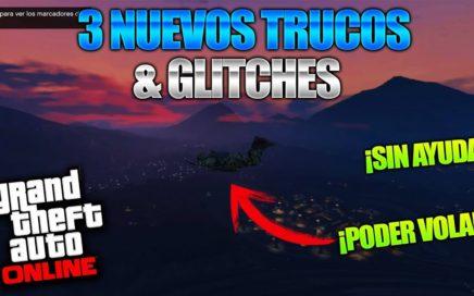 GTA 5 Online - 3 NUEVO TRUCOS & GLITCHES 1.42! (Funny Glitch, Glicht Volador & Mas!)