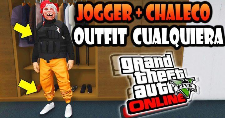 GTA 5 ONLINE MODO OUTFIT! COMO TENER  JOGGER + CHALECO PESADO  GUARDAR PARA SIEMPRE