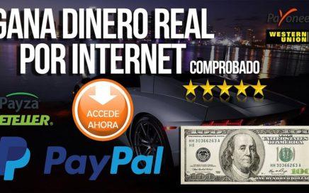 ¡INCREIBLE! GANA $10 DOLARES EN UN SOLO DÍA POR PAYPAL 2017  FÁCIL DE HACER (VIDEO REAL)