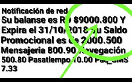 ¡¡¡Increíble Saldo y Recargar gratis truscazo 2018 - Miguel Perez Original