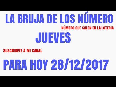 LA BRUJITA DE LA SUERTE PARA HOY JUEVES 28 DE DICIEMBRE DEL 2017