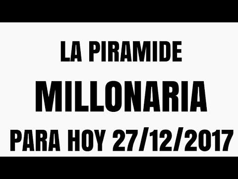 LA PIRÁMIDE MILLONARIA NUMERO PARA HOY MIÉRCOLES 27 DE DICIEMBRE DEL 2017