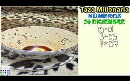 LA TAZA MILLONARIA NUMEROS PARA EL DIA DE HOY 20/12/2017 JUEGAN TODAS LAS LOTERIAS