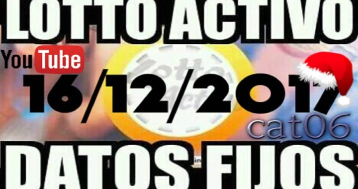 LOTTO ACTIVO DATOS FIJOS PARA GANAR  16/12/2017 cat06