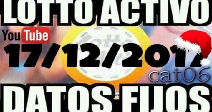 LOTTO ACTIVO DATOS FIJOS PARA GANAR  17/12/2017 cat06