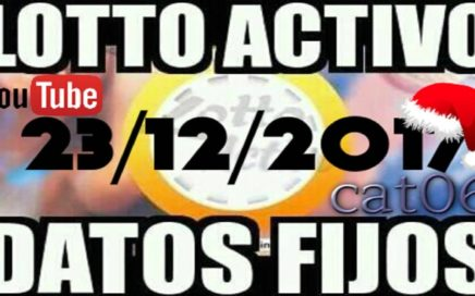 LOTTO ACTIVO DATOS FIJOS PARA GANAR  23/12/2017 cat06