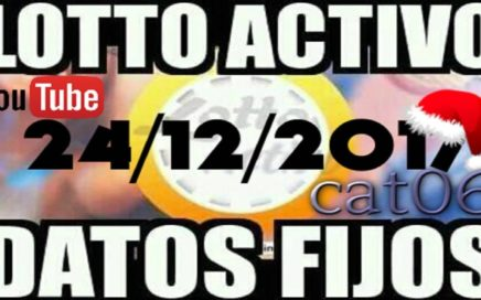 LOTTO ACTIVO DATOS FIJOS PARA GANAR  24/12/2017 cat06