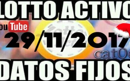 LOTTO ACTIVO DATOS FIJOS PARA GANAR  29/11/2017 cat06