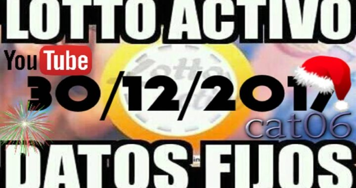 LOTTO ACTIVO DATOS FIJOS PARA GANAR  30/12/2017 cat06