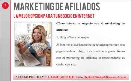 Marketing de Afiliados - La Mejor Opción Para Ganar Dinero Online