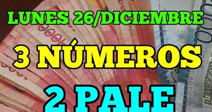 Martes 26 de diciembre números favoritos para hoy 2 pale 3 Números