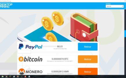 MINAR CRIPTOMONEDAS CON TU PC 2018 MÍNIMO DE PAGO $1  DESKTOPMINING COMPROBANTE DE PAGO