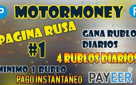 Motormoney Tutorial Completo - Pagina Rusa + COMPROBANTE DE PAGO , Como Ganar Dinero Viendo anuncios