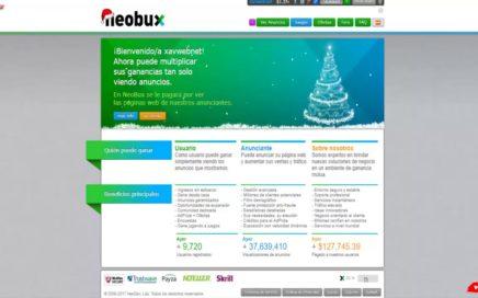 Neobux plataforma Ptc para ganar dinero extra en payza 2018