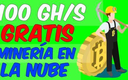 NUEVA PAGINA DE MINERIA EN LA NUBE 100 GH/s GRATIS Minar Criptomonedas Facil y Ganar Dinero Online