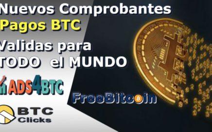 Nuevos Comprobantes De Pagos BTC|Frebitcoin,ADS4btc,BTCCLICKS|Gana BTC gratis