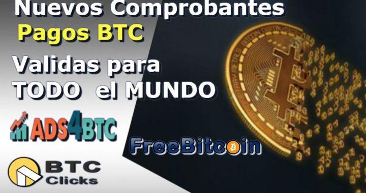 Nuevos Comprobantes De Pagos BTC Frebitcoin,ADS4btc,BTCCLICKS Gana BTC gratis