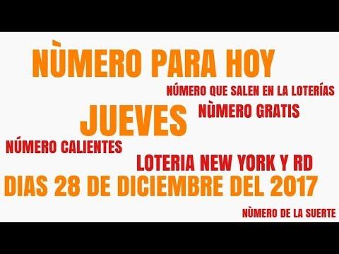 NUMERO PARA HOY JUEVES 28 DE DICIEMBRE DEL 2017 NUMERO CALIENTE