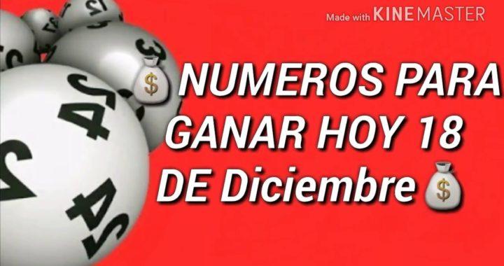 Numeros para ganar hoy 18 de diciembre