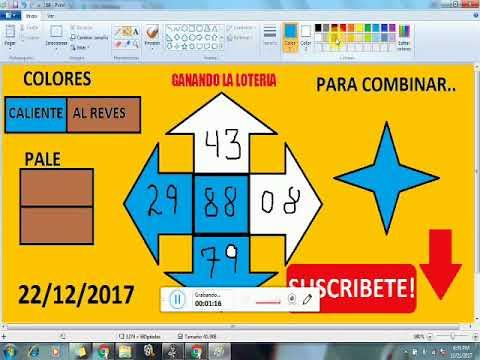 Numeros para GANAR la lOTERIA hoy 22/12/2017---JUEGA Y GANA dinero rapido en la LOTERIAS