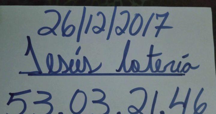 NÚMEROS PARA HOY 26/12/17 DE DICIEMBRE PARA TODAS LAS LOTERÍAS  !!!