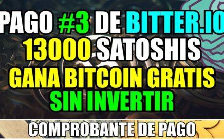 Pago #3 de Bitter.io | Comprobante de pago |  Ganar Bitcoin Gratis