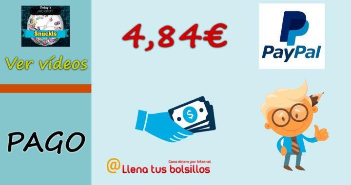 Pago 4.84$ en Snuckls por Paypal en menos de 24h | Gana dinero por ver videos de Youtube