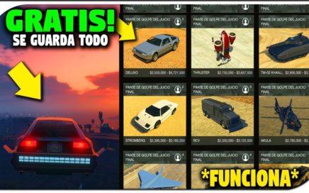 SIN AYUDA - NUEVO - TENER TODO GRATIS EN GTA 5 ONLINE! *SE GUARDA* COCHES AVIONES Y MAS!! (GTA V)