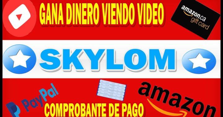 SKYLOM GANA DINERO VIENDO VIDEO PARA TU PAYPAL |COMPROBANTE DE PAGO |