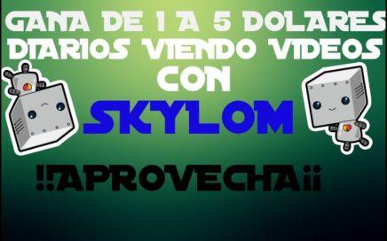 SKYLOM - GANA DINERO VIENDO VIDEOS - DE 1 A 5 DOLARES DIARIOS - HERMANA DE BAYMACK Y SNUCKLS