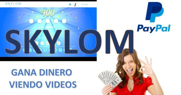 SKYLOM Gana Dinero viendo videos de Youtube Y COBRA EN PAYPAL