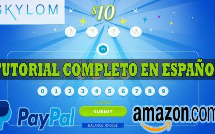 [SKYLOM] Nueva Pagina de Sorteos Para Ganar Dinero GRATIS a Paypal o Amazon