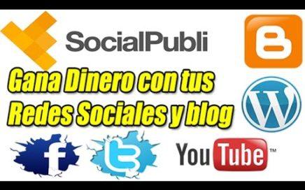 SocialPubli Explicación Completa | Gana Dinero a Paypal con tus Redes Sociales, Blog y Youtube