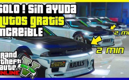 "SOLO SIN AYUDA! TRUCO INCREIBLE AUTOS GRATIS CADA MINUTO ""GTA V ONLINE"""