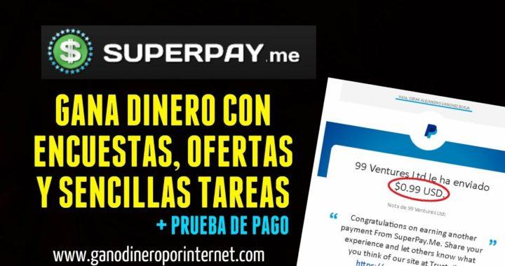 Superpay.me | Gana Dinero A Paypal Con Ofertas Y Encuestas + Prueba De Pago