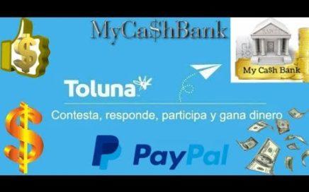 Toluna el mejor panel de encuestas Pago por PayPal Prueba de PAGO 