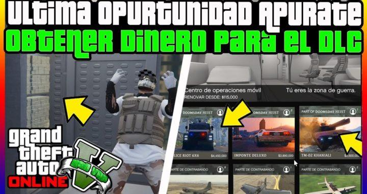 """ULTIMA OPORTUNIDAD! PARA CONSEGUIR DINERO PARA EL NUEVO DLC """"GTA V ONLINE"""" 1.42"""