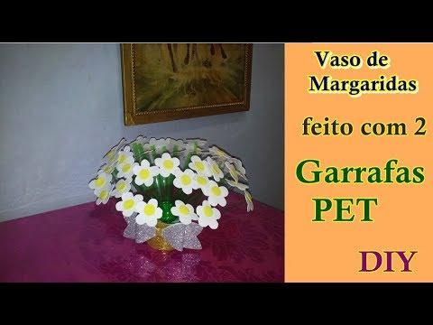 Vaso de Margaridas feito com 2 Garrafas PET | Criando Maravilhas