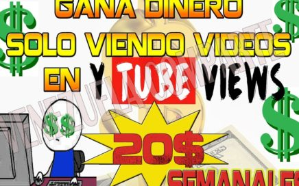 ytubeviews GANA DINERO VIENDO VIDEOS + TRUCO