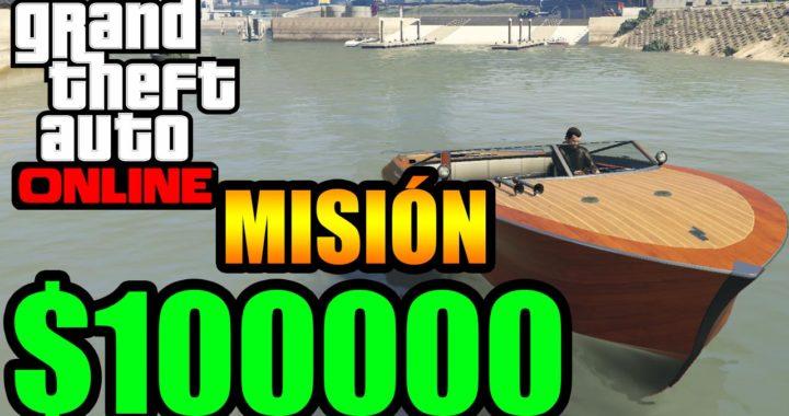 $100000 en minutos Dinero rápido Misión Barco Gameplay GTA 5 Online Funny Momments GTA V PS4