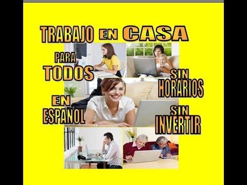 """12 SITIOS DE INTERNET """"EN ESPAÑOL"""" PARA ¡¡TRABAJAR DESDE CASA¡¡  / AMERICA LATINA, ESPAÑA"""