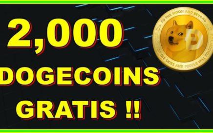 2000 DOGECOINS GRATIS FREE !! GRAN SORTEO !! PARTICIPA Y GANA !!