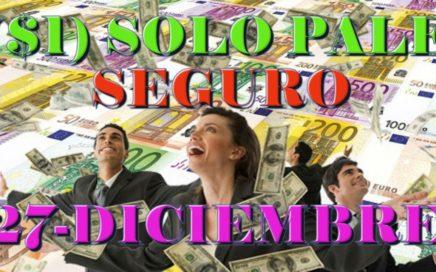 27 De DICIEMBRE/ UN SOLO PALE/ NUMEROS PARA GANAR LA LOTERIA/FORMULA SECRETA REVELADA/BINGO/PREMIO