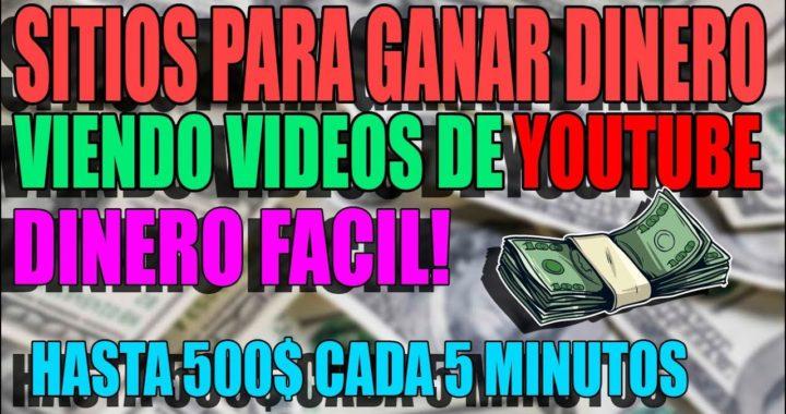 3 SITIOS PARA GANAR DINERO VIENDO VIDEOS! PAGOS A PAYPAL 2018