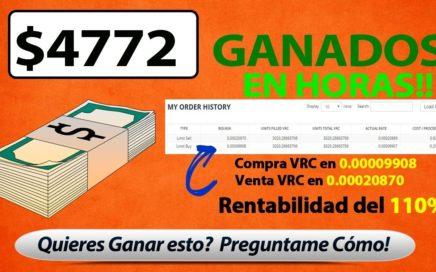 $4772 Dolares Ganados en HORAS - COMO GANAR DINERO POR INTERNET - CRIPTOMONEDAS SEÑALES GRATIS