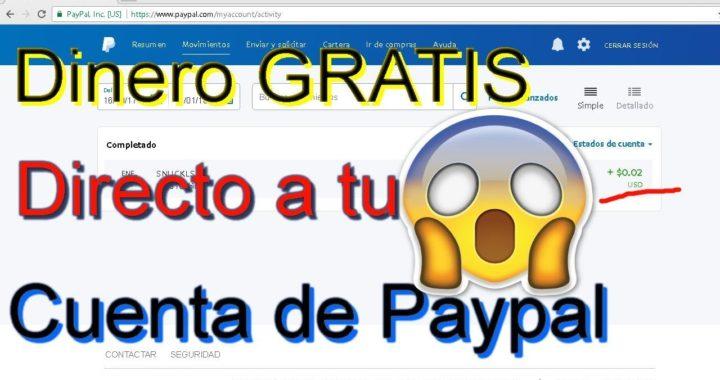 4°Pago Dinero GRATIS Directo a tu Paypal