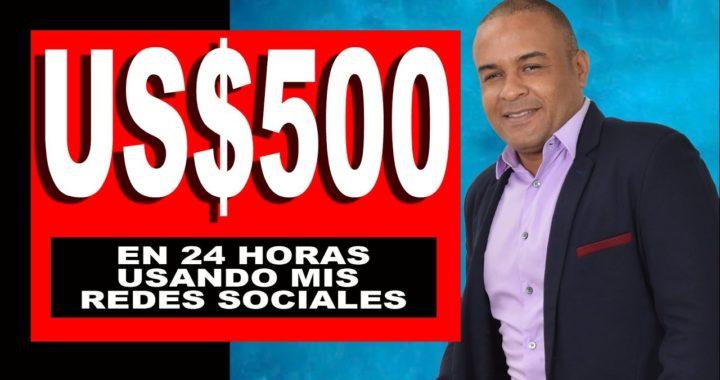 $500 dólares ganados con hacia arriba y mis redes sociales en 24 horas