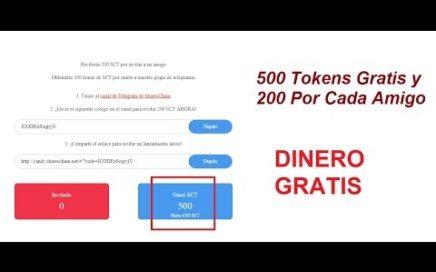 500 Tokens Gratis Por Registrarte Y 200 Por Cada Invitado: Dinero Gratis