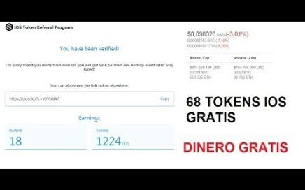 68 Tokens ios gratis: DINERO GRATIS  GRAN OPORTUNIDAD